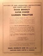 David Bradley Sears 917.57571 Garden Tractor And Plow Owners And Parts 3 Manuals