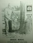 David Bradley Db 360 Chain Saw Owner Parts And Service 2 Manuals917.60003 Sears