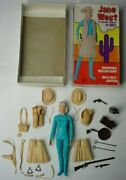 Vintage Marx Jane West Cowgirl Figure With Mod Box And Near Complete Accessories