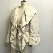 Camellia Motif Embroidery 06p Wrinkle Processed Shirt Jacket