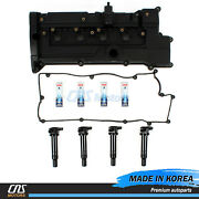 Valve Cover Set And Ngk Spark Plug And Ignition Coil For 2006-2011 Accent Rio⭐⭐⭐⭐⭐