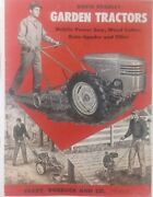 David Bradley Sears Tractor Color Brochure Owner Parts And Service 7 Manual S