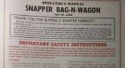 Snapper Riding Lawn Mower Tractor Bag-n-wagon Owner, Service And Parts Manual