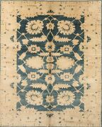 One-of-a-kind Teal Green Vegetable Dye Stark Egyptian Hand-knotted 8x11 Area Rug