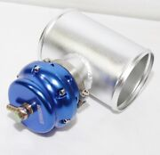 Emusa Universal Blow Off Valve 50mm V Band Bov Blue And 4 Adapter For Accord Crx
