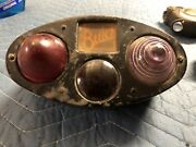 Vintage Early Buick Combo Stop Tail Lamp Tag Light Auto Automobile Truck Car Old