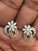 1.51 Cts Round Marquise Pear Cut Diamonds Stud Earrings In 585 Hallmark 14k Gold