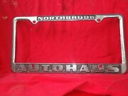 Northbrook Auto Haus Metal License Plate Frame.pre-owned