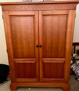 Broyhill Solid Red Pine entertainment Armoire Great For Bedroom Or Living Room