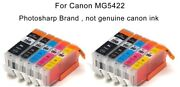10pk Ink Toner Cartridge For Canon Pixma Mg5422 Cannon All-in-one Inkjet Printer