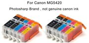10pk Ink Toner Cartridge For Canon Pixma Mg5420 Cannon All-in-one Inkjet Printer