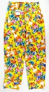 New Moschino Couture X Jeremy Scott Traffic Cone Print Casual Pants 6/40 895