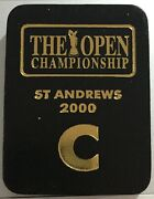 Tiger Woods 2000 Golf British Open Championship St Andrews Clubhouse Badge Rare