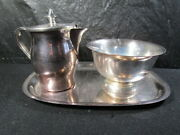 William Rogers Creamer And Sugar With Tray - Paul Revere 33