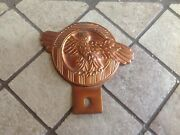 Unique Vintage Ruptured Duck Old Car Truck License Plate Topper Brass Copper