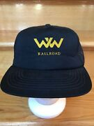 Winchester And Western Railroad Vintage Trucker Cap Hat Snap Back Foam Front