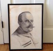 African American Cloyd L Boykin Pencil Drawing Signed Maybe Of Marshal Foch