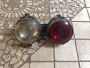 Vintage Combo Tail Lamp Glass Lens Back Up Light Antique Auto Truck Car Early
