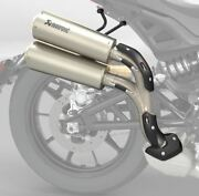 Indian Motorcycles Ftr 1200 High Mount Slip-on Exhaust By Akrapovic - 2883519