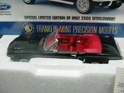 Wow Extremely Rare Ford Mustang 260 Convertible 1964 Black 124 Franklin Mint-gt