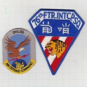 Usaf Flight Jacket Patches 76th Fis Adc 1957 Mccoy Afb-1961-1963 Westover Afb
