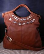 Foley + Corinna Iron Horse Leather Tote With Hardware Ret 425.00 Christmas