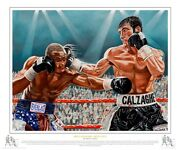 Calzaghe Vs Lacy Signed Strictly Limited Edition Of 41 Fine Art Edition Framed