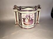 Lc3 Staffordshire Pearlware Pink Luster Lusterware Bough Pot Rare Form Ca. 1815