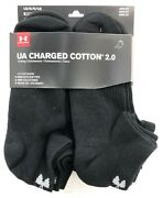 Under Armour Charged Cotton 2.0 Lo Cut Socks 6 Pack Black