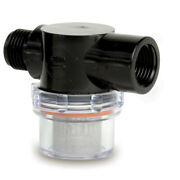Shurflo By Pentair 255-313 Twist-on Water Strainer 1/2 Pipe Inlet Clear Bowl