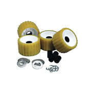 C.e. Smith 29310 Ribbed Roller Replacement Kit 4 Pack Gold