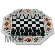 Chess Table Online Board Games Traditional Vintage Collection Marble Inlay Work