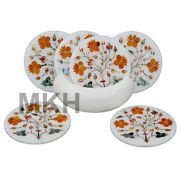 Coaster Set Of 6 With Holder Real Marble Coasters