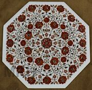 Marble Coffee Table Vintage Mid Century Hand Made Inlay Stones Mosaic Furniture