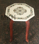Marble Vintage Art 90 Century Design Coffee Table Inlay Stone Side Table Top