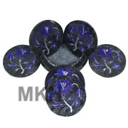Bar Coasters Handmade Marble Coaster Set With Holder 6 Pieces For Drinks
