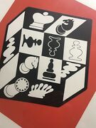 Victor Vasarely Chess Serigraph Limited Edition 11/100