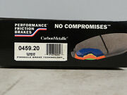 Performance Friction 0459.20 Carbon Metallic Disc Brake Pads/ Front New In Box