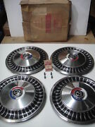 1963 Ford Fairlane Hubcap Wheelcover Set Of Four In Box
