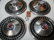 1963 Ford Fairlane Hubcap Wheelcover Nos Set Of Four In Box 2