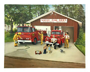 Sagle Fire Dept Cocolalla Station Original Glenice Signed Oil Painting Auto 1/1