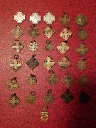 Lot Of 31 Vintage Ihs Crisade Jerusalem Religious Medals