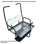 Pure White Golf Cart Rear Flip Seat Club Car Ds 1982 - 2000.5 W/ Roof Supports