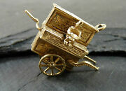 Vintage 9ct Gold Large Organ Grinder And Monkey Charm - 1972 - Moving Parts