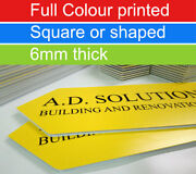 Colour Printed Site Boards 6mm Thick Free Custom Shape Cut Outdoor Use