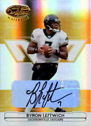 2006 Leaf Certified Materials Mirror Gold Signatures 66 Byron Leftwich/25 Auto