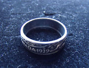 Mens 800 Silver 1939 Canada Coin Ring Toned Size 16 Or Sized Down On Request