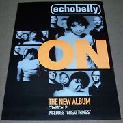 Echobelly Stunning Rare U.k. Record Company Promo Poster For The And039onand039 Album 1995