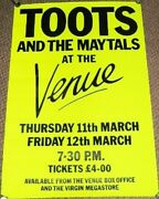 Toots And The Maytals Stunning Concert Poster 10th And 11th March 1982 London Uk