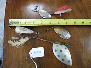 Allcock Laight And Westwood Fishing Lure Spinner Pflueger Muskie Lot12923